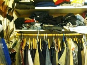 professional organizer closet before